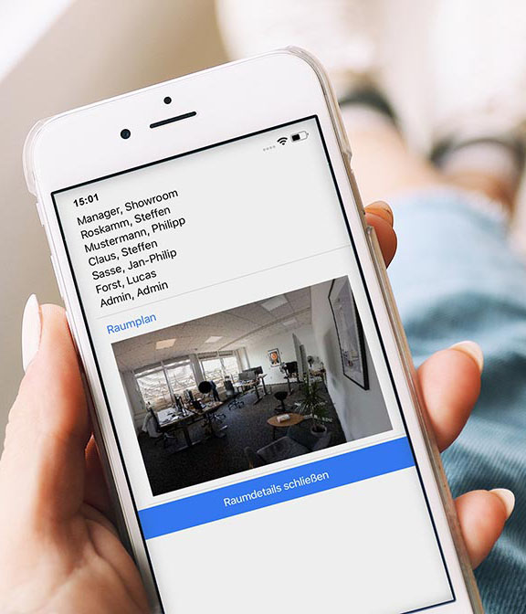 Room and workspace booking with APP