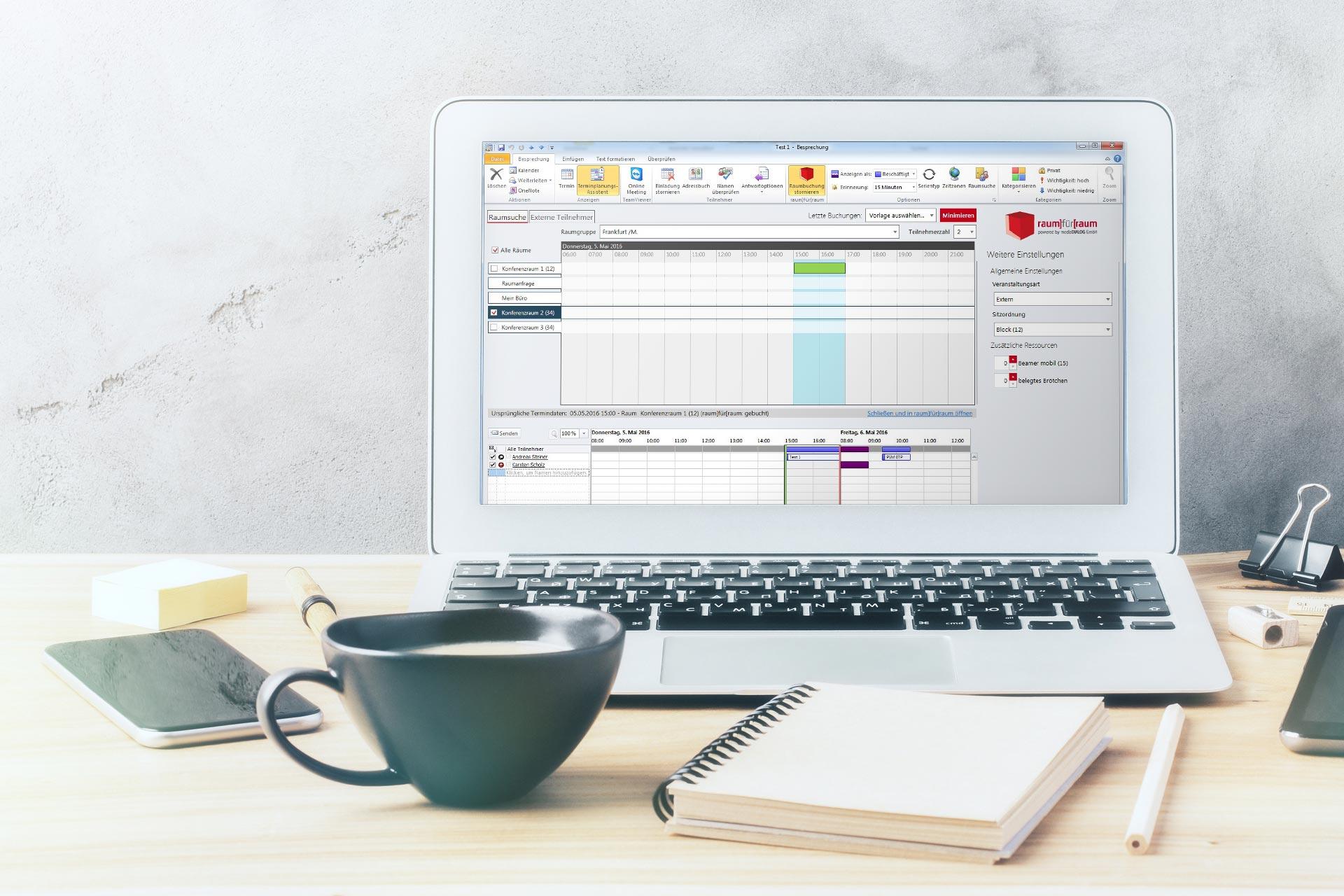 Outlook Raumverwaltung